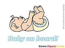 Dessin gratuit enfant – Bébé à bord image