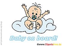 Dessins gratuits bébé à bord clipart