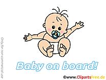 Dessins gratuits enfant – Bébé à bord clipart