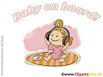 Écouteurs clip arts gratuits – Bébé à bord illustrations