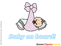 Enfant dort illustration – Bébé à bord images