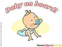 Enfant image gratuite – Bébé à bord clipart