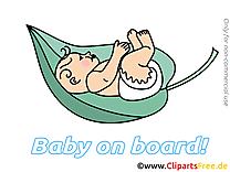 Feuille image gratuite – Bébé à bord cliparts