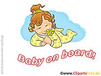 Fleur dessin – Bébé à bord clip arts gratuits