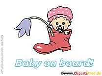 Fleur illustration – Bébé à bord images