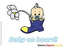 Fleur images gratuites – Bébé à bord clipart