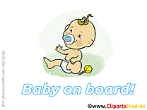 Hochet clipart – Bébé à bord dessins gratuits