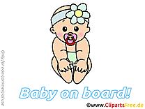 Illustration à télécharger enfant – Bébé à bord clipart