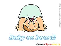Image bébé à bord images cliparts