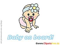 Image gratuite enfant – Bébé à bord illustration