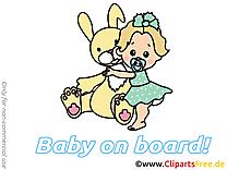 Lapin bébé à bord image à télécharger gratuite