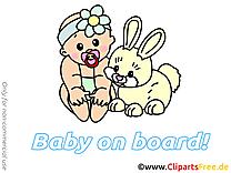Lapin clip arts gratuits – Bébé à bord illustrations
