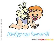 Lièvre clip arts gratuits – Bébé à bord illustrations