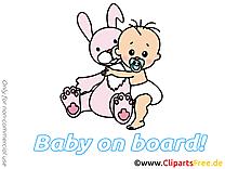 Lièvre clipart – Bébé à bord dessins gratuits