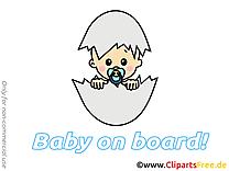 Oeuf clip art gratuit – Bébé à bord dessin