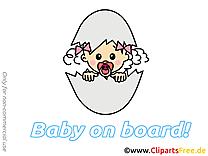 Oeuf image gratuite – Bébé à bord cliparts