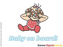 Orange dessin – Bébé à bord à télécharger