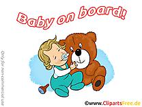 Ours en peluche bébé à bord image gratuite