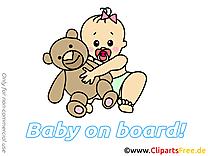 Ours en peluche clipart gratuit – Bébé à bord images