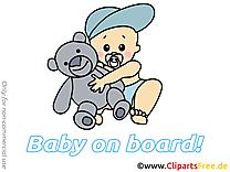 Ours en peluche cliparts gratuis – Bébé à bord images