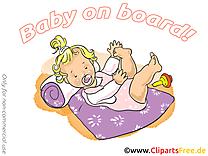 Petite fille cliparts gratuis – Bébé à bord images