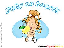 Pomme images gratuites – Bébé à bord clipart