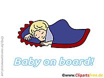 Sommeil dessin – Bébé à bord cliparts à télécharger