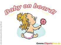 Sucette images gratuites – Bébé à bord clipart