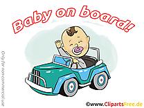 Voiture dessin gratuit – Bébé à bord image