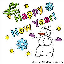 Bonne année carte virtuelle