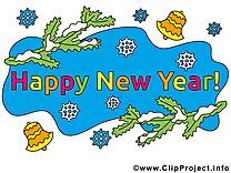 Bonne année image de carte de voeux