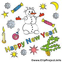 Carte bonne année gratuit