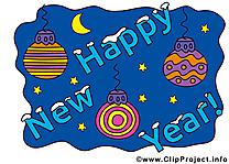 Carte virtuelle Bonne Année gratuite