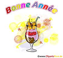 Cocktail carte nouvelle année gratuit