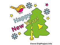 Idée carte de voeux bonne année