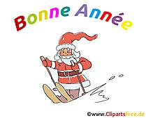 Image carte de voeux Père Noël