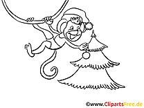 Nouvel An dessins à colorier gratuits