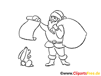 Père Noël coloriage bonne année