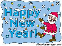 Voeux nouvelle année carte
