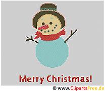 Bonhomme de neige images – Broderie clip art gratuit