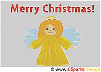 Noël clip art – Broderie image gratuite