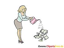 Arroser secretaire images gratuites – Bureau clipart