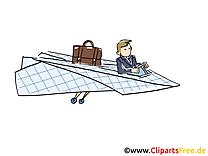 Avion en papier clipart gratuit – Bureau images