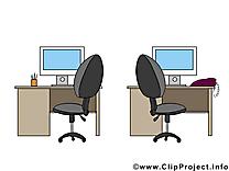 Bureau illustration à télécharger gratuite