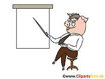 Cochon conférence cliparts gratuis – Bureau images