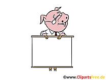 Cochon image présentation – Bureau images cliparts