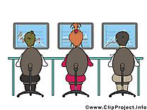 Collegues dessin – Bureau cliparts à télécharger