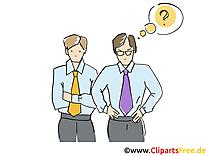Difficultés image – Bureau images cliparts
