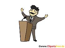 Discours dessin – Bureau cliparts à télécharger