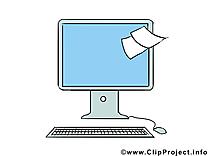 Écran illustration gratuite – Bureau clipart